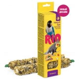 Палочки РИО для средних попугаев с медом и орехами, 2х75 г