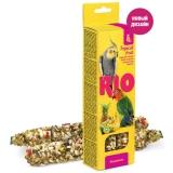 Палочки RIO для волнистых попугайчиков с тропическими фруктами, 2х40 г
